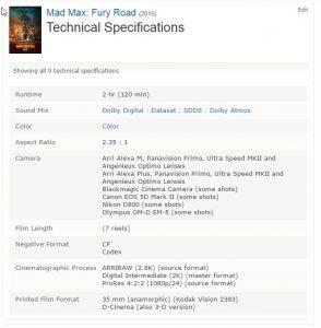 comment reconnaître les vrais et les faux ultra bluray 4k - Mad Max Fury Road 2015 Technical Specifications IMDb 294x300 - [UHD] Comment reconnaître les vrais et les faux Ultra Bluray 4K, voici la vérité sur les 4K en vente début 2017 - idroid.fr
