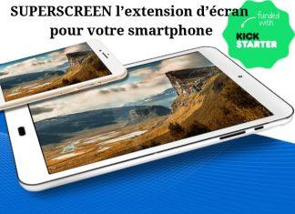 Agrandir la taille de votre écran de téléphone ! Tous les avantages de votre mobile sur un grand écran avec superscreen !