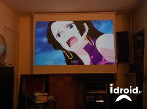 solution d'écran pour video projecteur pas cher pour 39€ - toile videoproj pas cher ikea tuplur idroid - [HOME CINEMA] Solution d'écran pour vidéo projecteur 2 mètres de base pas cher pour 39€ - idroid.fr