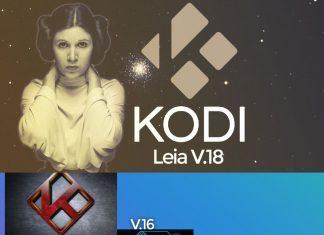 L'évolution de KODI : 14 Helix, 15 Isengard, 16 Jarvis, 17 Krypton et enfin 18 Leia sur ANDROID
