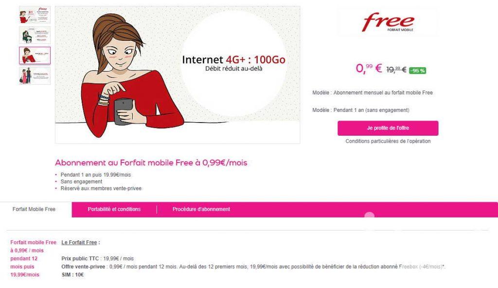forfait free 100giga sans engagement a 0,99€ pendant 1 an sur vente privé - Idroidfr free0 - [MOBILE] Forfait free 100Giga sans engagement a 0,99€ pendant 1 an sur vente privé - idroid.fr