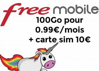 [MOBILE] Forfait free 100Giga sans engagement a 0,99€ pendant 1 an sur vente privé
