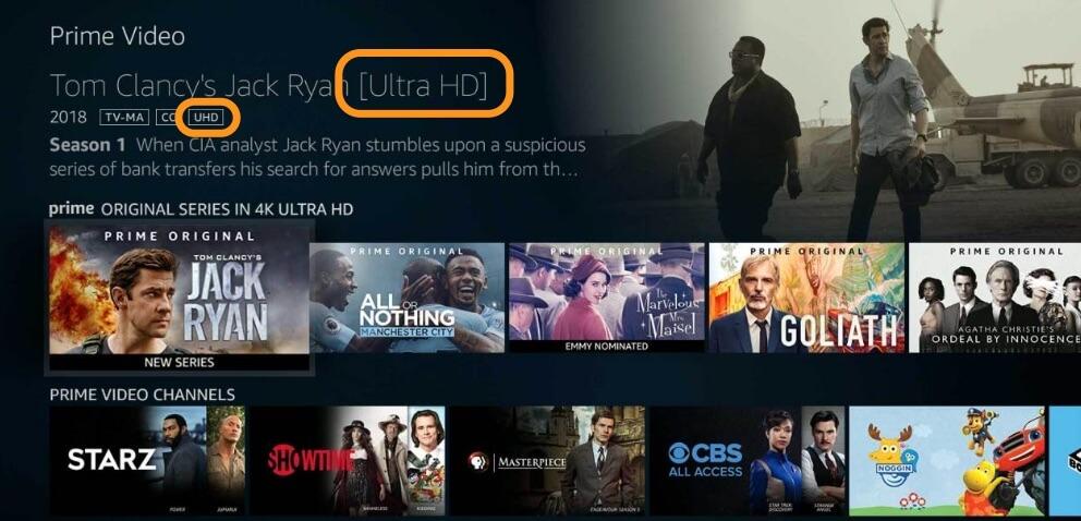 amazon prime vidéo comment avoir le dolby atmos et dolby vision - logo UHD amazon prime video - [HOME CINEMA] Amazon Prime Vidéo comment avoir le DOLBY ATMOS et DOLBY VISION - idroid.fr