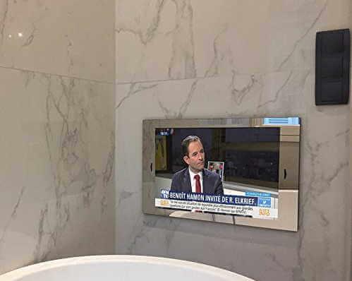 objets high-tech indispensables dans votre salle de bain de douche ou d'eau - miroir tv high tech - [GUIDE] Objets High-tech indispensables dans votre salle de bain de douche ou d'eau - idroid.fr